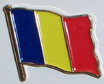 Chad Country Flag Enamel Pin Badge